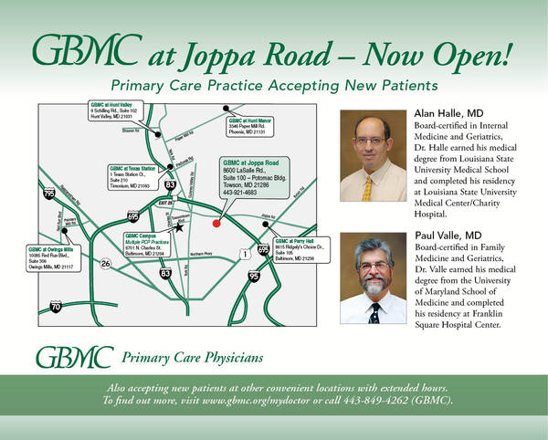 GBMC Ad for New Primary Care Practice