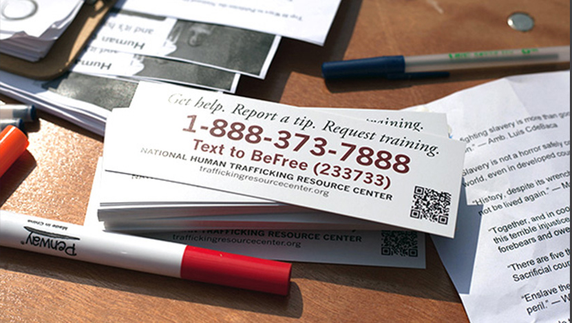 Anti-Trafficking Outreach Bookmark