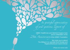 GBMC Foundation Formal Dinner Invitation