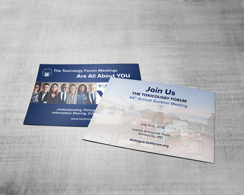 ToxForum Global Gallery and Annual Meetings Promo Postcard