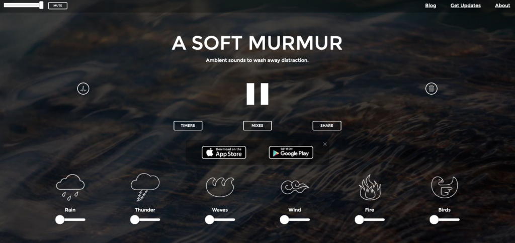 Screenshot of https://asoftmurmur.com