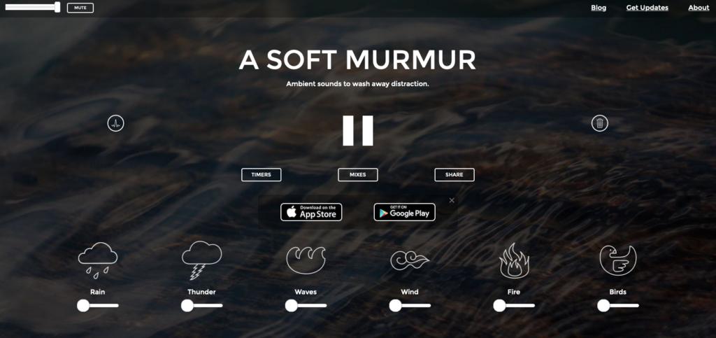 Screenshot of https://asoftmurmur.com